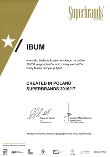 Superbrands 2016/2017 dla IBUM